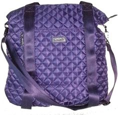 Apana Purple Quilted Serenity Yoga Bag. 17.1 x 15.7 x 4.5. Straps on the bottom to conveniently carry your yoga mat.