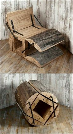 Log chair! For more DIY projects visit http://www.handymantips.org/category/diy-projects/