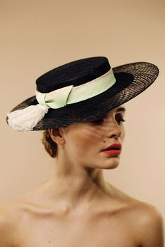 San Marco boater | AWON GOLDING MILLINERY | London based milliner specialising in women's occasion and wedding hats | www.awongolding.com
