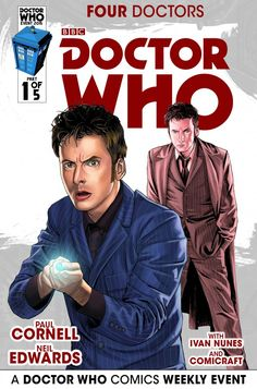 Four Doctors #1 (Cafe Anime variant cover by Mariano Laclaustra).