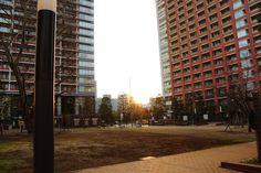 Tokyo, Shibaura in the sunset.