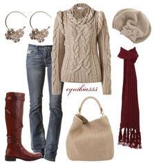 """Crisp Morning"" by cynthia335 on Polyvore Too bad I don't live somewhere that i can wear stuff like this."