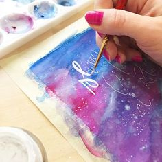 I have a new found love for galaxy watercolor painting . This one was my first one ever (minus the 2 bad versions not pictured) that I did. And I got to say I liked the process. Even though I didn't know what the heck I was doing lol. . . This is part of the #2018techallenge for March. ( sign up for it in my link ) Where we explore backgrounds and washes. Something I have little experience with, so I'll be learning with all of you lovely participants . . The March videos will be...