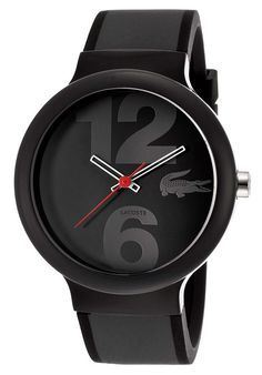 Lacoste Men's Black Dial Black & Gray Rubber Lacoste (2010545 Watch)  Visit www.TheLAFashion.com for Fashion insights and tips.