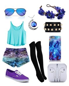 """""""Gorgeous blue and purple tumblr inspired!"""" by neptune-bound ❤ liked on Polyvore"""