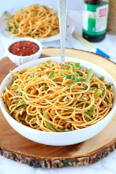 Vegan Spicy Peanut Noodles