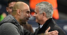 Jose Mourinho vs Pep Guardiola: After eye gouging and hair jibes their rivalry enters new chapter as Tottenham host Man City Sprinter Van, Manchester City, Manchester United, Yoga Fitness, Graeme Souness, Sport Logos, Arsenal News, Pep Guardiola, Abs