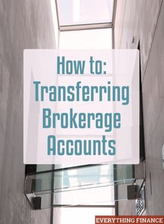 Are you unhappy with your current broker? You can always switch. Learn the process of transferring brokerage accounts so you can move on to a better broker.