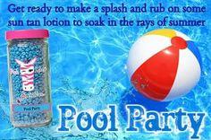 Pink Zebra Pool Party sprinkles smell like suntan lotion. Go to www.pinkzebrahome.com/mrasley to order.