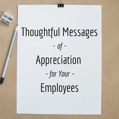 42 Thoughtful Work Appreciation Messages and Notes for Employees - ToughNickel - Money Employee Appreciation Quotes, Words Of Appreciation, Teacher Appreciation, Staff Motivation, Workplace Motivation, Words Of Gratitude, School Leadership, Servant Leadership, Educational Leadership