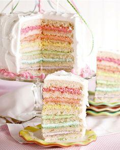 Maypole Layer Cake by Amanda Rettke of the blog, 'I Am Baker'