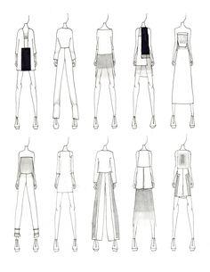 fashion sketchbook // Justine W. Fashion Illustration Sketches, Fashion Sketchbook, Fashion Design Sketches, Fashion Drawings, Fashion Designers, Moda Fashion, Fashion Art, Editorial Fashion, Fashion Shoes