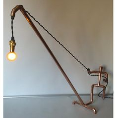 CopperMan Hand Made Copper Table / Desk Lamp by Copperilluminate, £79.00