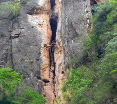 Hanging coffin at the Shen Nong Stream, Hubei, China