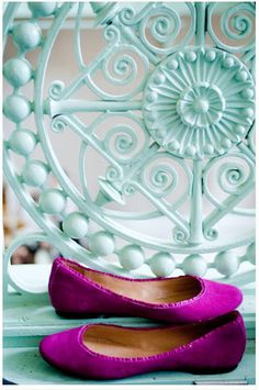 Bright Radiant Orchid Flats #love
