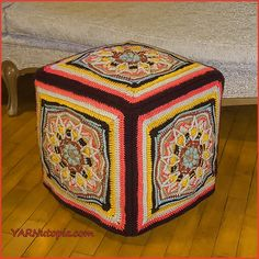 Free crochet pattern: New Beginnings Afghan Block with video tutorial by YARNutopia by Nadia Fuad Crochet Squares, Crochet Motif, Free Crochet, Crochet Patterns, Granny Squares, Crochet Granny, Web Patterns, Afghan Patterns, Square Patterns