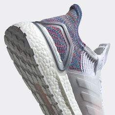 3a4a46768 Adidas Ultra Boost 2019 White and Multi color Primknit 360. The Latest  Sneakers