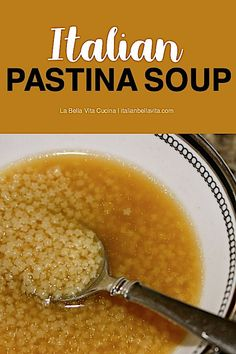 Italian Pastina Soup is The perfect comfort soup with childhood memories. Classic Pastina Chicken Soup — the perfect comfort soup Italian Dishes, Italian Recipes, Italian Foods, Chicken Broth Soup, Chicken Pastina Soup Recipe, Baby Soup Recipe, Italian Chicken Soup, Chicken Soups, Pasta Soup