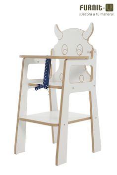 Vaca Trona, la silla que gusta muuuu-cho a los niños! En MDF melamina con barnizado para niños #deco #concurso tronas