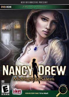 Nancy Drew: Midnight In Salem Nancy Drew Games, Nancy Drew Books, Detective, Pamela Sue Martin, Nancy Drew Mysteries, Hidden Object Games, Pc Games, Happy New Year, Videogames