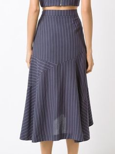 Look Fashion, Fashion Pants, Fashion Design, Dress Skirt, Midi Skirt, Sleeves Designs For Dresses, Fashion Project, Stripes Fashion, Professional Outfits