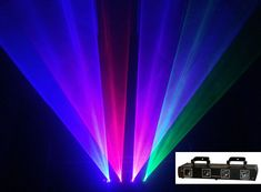 4 Lens 980mW 4 Colors RGPB DJ Laser Light DMX 7CH Disco Stage Party Lighting Pro #aobolighting