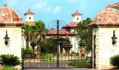 Driveway Gate Alhambra-75 - Wrought Iron Doors, Windows, Gates, & Railings from Cantera Doors