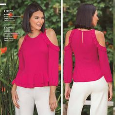 Modelos Fashion, Sewing, Womens Fashion, Casual, How To Wear, T Shirt, Outfits, Blouses, Cushion Pillow