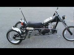 homemade moped trike first ride - YouTube