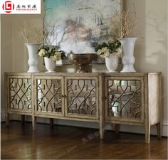 Cheap mirror sideboard cabinet storage cabinets lockers entrance American neo-classical post-modern shipping - Taobao
