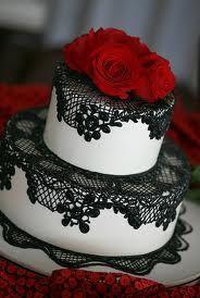 Spanish rose round cake