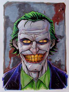 The Joker by ~KidNotorious on deviantART Charles Holbert Jr. Joker Dc Comics, Arte Dc Comics, Arkham Knight, Batman Arkham, Joker Batman, Batman Art, Batman Robin, Image Joker, Joker Y Harley Quinn