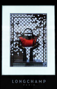 "HARRODS,London,UK presents: Longchamp, ""Made With Love"", window display by Elemental Design, pinned by Ton van der Veer"