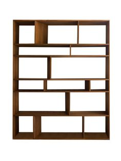 Want a book shelf like this sooooooo much.  they are so hard to find!   SLATT Wide Shelf (Teak) by Bevara Design House on Gilt Home