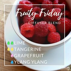 Happy Friday! Try this fruity diffuser blend for cheerful weekend vibes #FridayFeeling #diffuserblends #essentialoils #lovefruit #weekendvibes #oillove #doterralove #weekendready #the365life