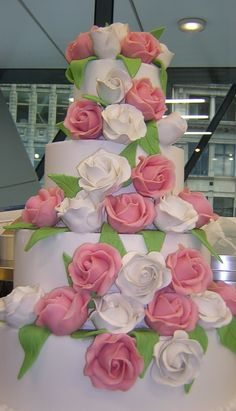 Royal Iced cake with marzipan roses