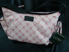 Lauren by Ralph Lauren HoBo 767 Purse Signature Pink Small Bag NWT #LaurenbyRalphLauren #Hobo