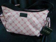 Lauren by Ralph Lauren HoBo 767 Purse Signature Pink Small Bag NWT #LaurenbyRalphLauren #Hobo