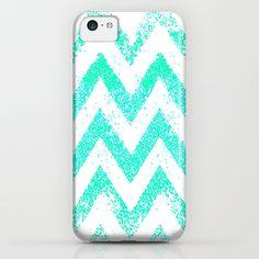 mint chevron iPhone & iPod Case