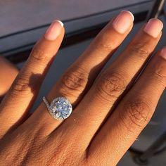 My engagement ring is my favorite accessorY  What's yours? #proposal #myring #imengaged #engaged #engagementring #diamond #howheasked #dreamring #dreambig #favorite #accessory #jewelry #jewellry #jewelrydesign #myengagementring #mywedding #bridetobe #beautiful #amazing #sparkle #bling #ringfinger #question #theknot #engagedtothedetails #ringoftheday #marthaweddings #isaidyes #weddingplanning