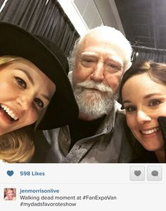 Jennifer Morrison & Hershel & Lori from The Walking Dead. When two of your fave shows come together! lol
