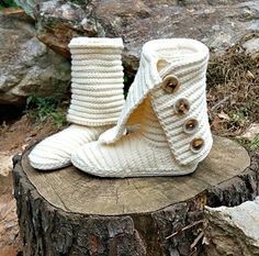 Our Crochet Boots are the first of its kind, stylish and trendy. Boots can be worn outside as this pattern teaches you how to crochet the boot & outer sole as well as comfy inner sole. Boots are crocheted in 2 pieces & joined together.