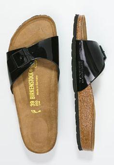 Schwarze Pantolette im eleganten Lack-Look! Birkenstock MADRID - Pantolette flach - black für SFr. 41.00 (31.03.16) versandkostenfrei bei Zalando.ch bestellen.