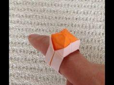 折り紙で、かんたん指輪の折り方【大人もOK】ORIGAMI - YouTube