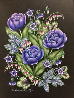 Inspirational Coloring Pages by Meg Marie Trolle's Blomstermadla - I Bring you Flowers