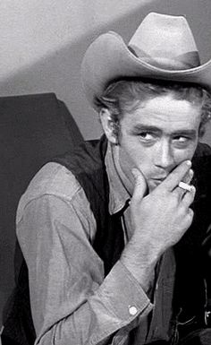 James Dean as a cowboy