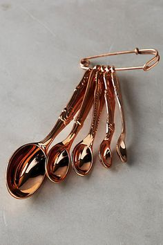 Anthropologie - Anthropologie Rediscovered Measuring Spoons - Home Decor Kitchen Items, Kitchen Utensils, Kitchen Gadgets, Kitchen Dining, Kitchen Appliances, Cooking Utensils, Kitchen Tools, Kitchen Stuff, Copper Appliances