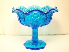 McKee Quintec Heritage Peacock Blue Glass by GarageSaleGlass, $19.99