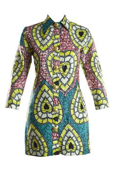 African inspired ladies shirt dress