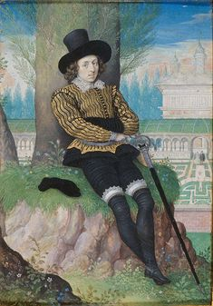 Isaac Oliver - Young Man Seated under a Tree, 1590 - 1595 https://commons.wikimedia.org/wiki/File:Isaac_Oliver_-_Young_Man_Seated_under_a_Tree_-_Google_Art_Project.jpg